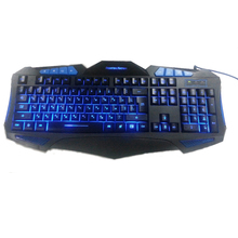 Russian Backlit Illuminate Gaming Keyboard Fighting Nation Russia Layout Letter Computer Wired USB LED Backlight Game Gamer