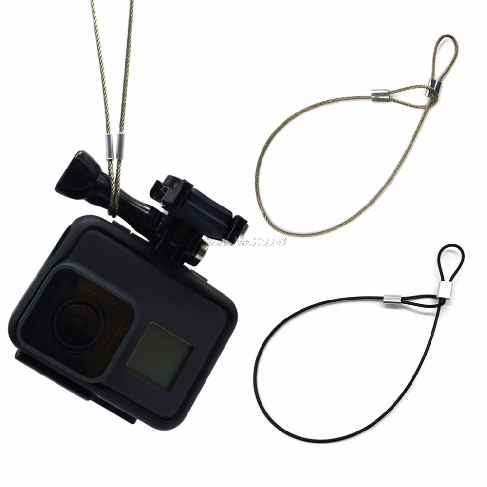 Safety Strap Stainless Steel Tether Lanyard Wrist Hand 30cm For GoPro Camera New Electronics Stocks