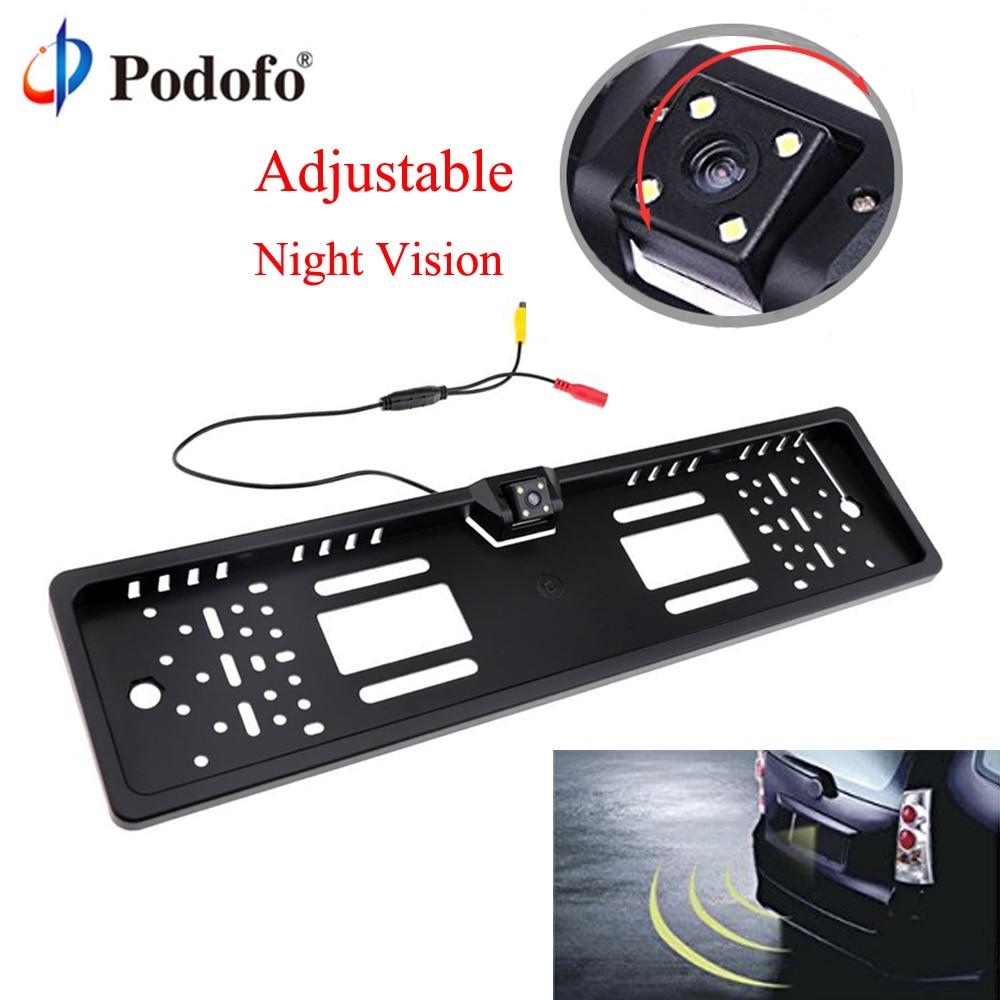 Podofo Rückfahrkamera EU Europäische Auto Nummernschild Rahmen Wasserdicht Auto auto Rück parkplatz Kamera