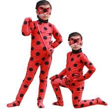 Niños Mariquita Milagrosa Adrien Traje de Gato Negro traje con Máscara de halloween del partido de cosplay de anime ropa para niño(China)
