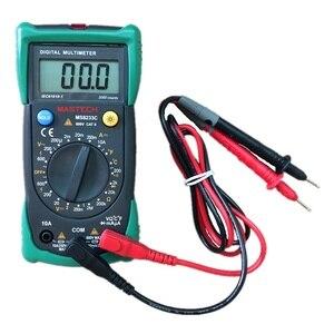 Mastech ms8233c profissional multímetro digital dmm ac medidor de tensão retenção dados com backlight amperímetro capacitância tester