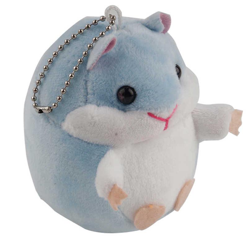 Chaveiros de pelúcia Hamster Mini Chaveiros Chaveiros Pele Fluffy Bugigangas Brinquedo Pingente Correntes Charms Presente engraçado