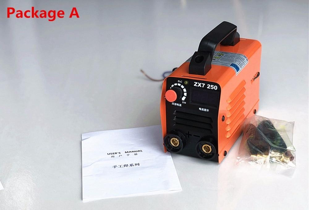 Equipo soldador inversor arco soldadura 250A 110-250V compacto