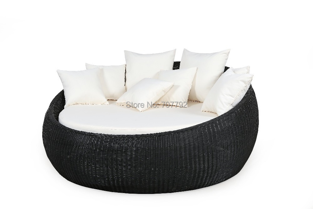 Compare prices on round rattan bed online shopping buy for Sofas mimbre exterior