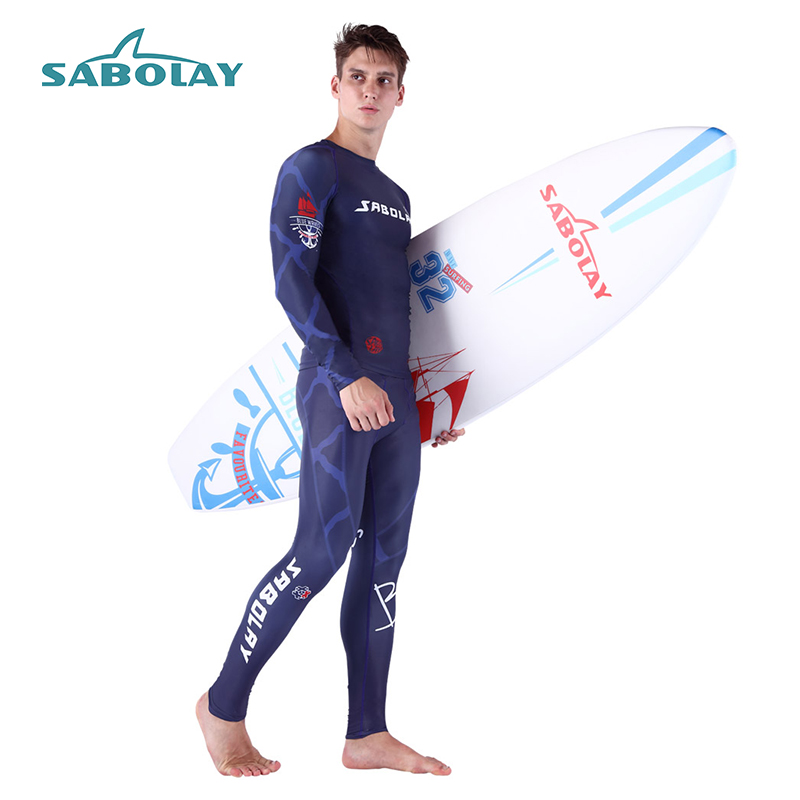 Diving Quick-Dry Diving Suit Swimsuit Snorkeling Swimming Surfing Rash Guard Long Sleeves T-Shirts Set Swimwear Men