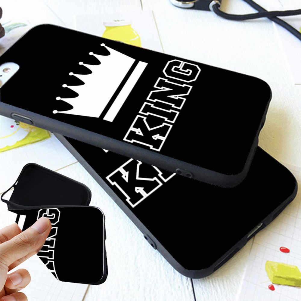 BFF Roi Reine 01 Couple Housse Pour iPhone 11 Pro Max X 8 5 5S XR XS Max 6 6S 7 Plus Meilleurs Amis En Silicone Souple Téléphone Coque