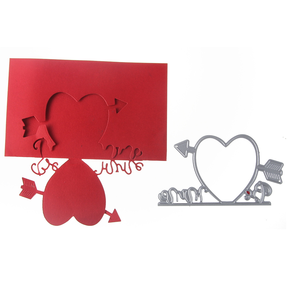 Bi fujian love borders Metal Cutting Die Crafts Embossing Scrapbooking Die Carbon Cuts Paper Card Stencil For Albums Decor