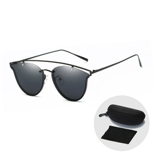 Trendy Punk Polarized Sunglasses for Men Women Cool Colourful Driving Glasses 2019 New Arrival Cat Eye Sun with Zip Case