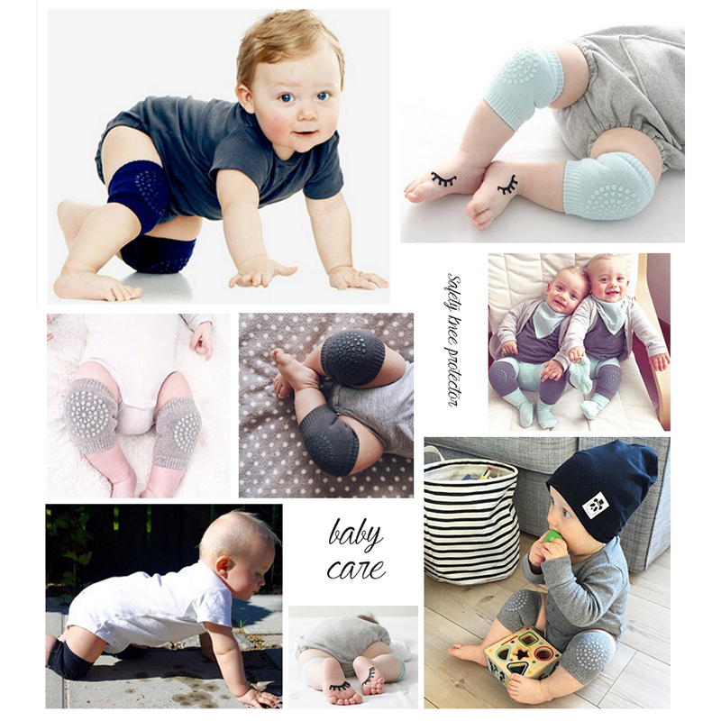 1 Pair Newborn Baby Leg Warmers Anti Slip Baby Knee Guard Knees Protector Baby Crawling Knee Pads Calentadores Pierna