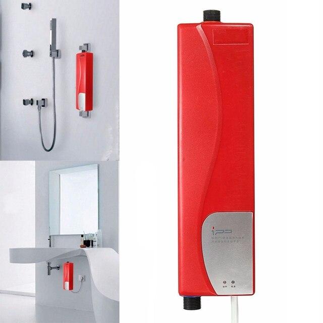 AU Stecker Bad Küchenwaschbecken Wasserhahn Wasserhahn Mini Instant  Elektrische Warmwasserbereiter Dusche Solarwarmwasserbereiter Heizung  Wasserhahn Taps