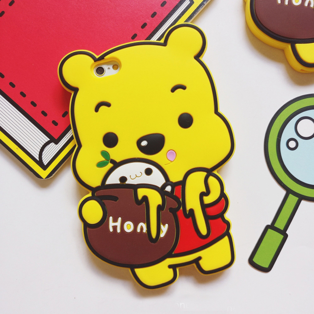 sports shoes 69757 94050 US $3.36 |New Silicone Soft 3D Winnie Pooh phone case rubber back cover  phone For iPhone 5 5S 5SE 6 6S 7 Plus cases fundas fashion bag-in Fitted  Cases ...