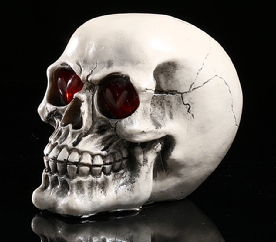 4 Style Skull Home Decoration Bar Atmosphere Venues Props Resin Horror Creative LED Gimmick Fun