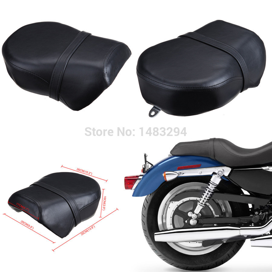 Free Shipping Rear Pillion Passenger Seat Fits For Harley Sportster Iron 883R 883C 883 883N XL1200 2007-2014 for ktm 390 duke motorcycle leather pillon passenger rear seat black color