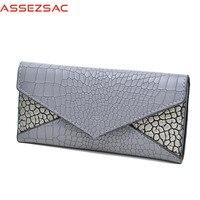 Assez Sac Fashion Women Wallets Pu Leather Bags Women ID Card Holders Alligator Bags High Quality
