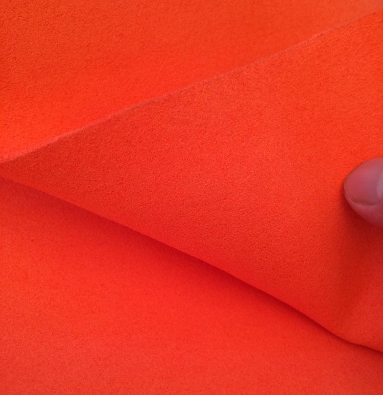 orange 1.4mm thickness Super fiber microfiber double face suede fabric material-in Synthetic Leather from Home & Garden    1