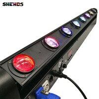 Светодио дный 2 шт./лот LED Бар луч перемещение головного света RGBW 8 Вт 12 Вт идеально подходит для мобильных DJ, вечерние, ночной клуб