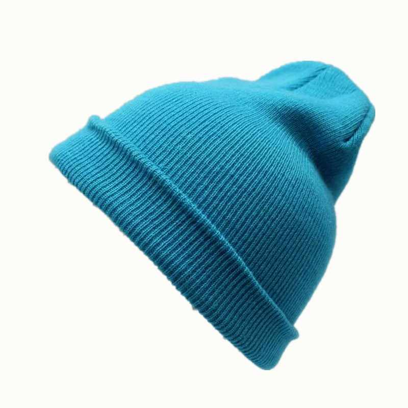 OZyc جديد 21 الألوان الصلبة للجنسين قبعة الخريف الشتاء الصوف Blends لينة الدافئة محبوك قبعة الرجال النساء الجمجمة قبعة القبعات Gorro تزلج قبعات
