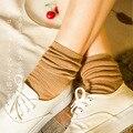 2016 New Four Seasons Cotton Candy Colored Women Socks Harajuku Fashion Retro Striped Socks