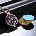Novos medalhões Aromaterapia Difusor do óleo Essencial Colar de pingente oco para fora da fase caixa de Jóias pingente de aromaterapia Difusor