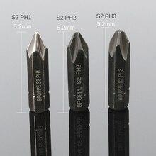 3PCS Impact Screwdriver Set Cross Phillips Heavy Duty Electric Magnetic Bit 8mm Hex Shank Screw Driver