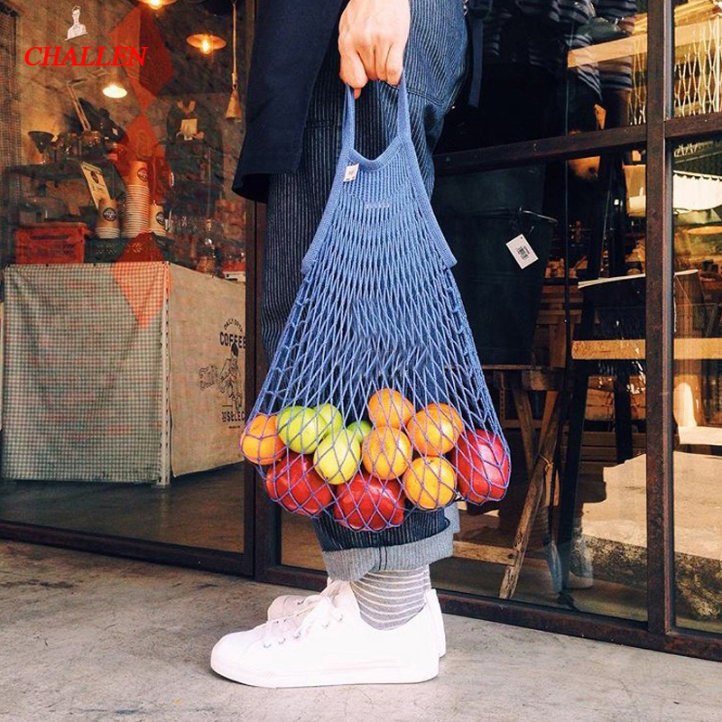 2018 New Mesh Net Turtle Bag String Shopping Bag Reusable Fruit Storage Handbag Totes Women Shopping Mesh Bag Shopper Bag цена 2017