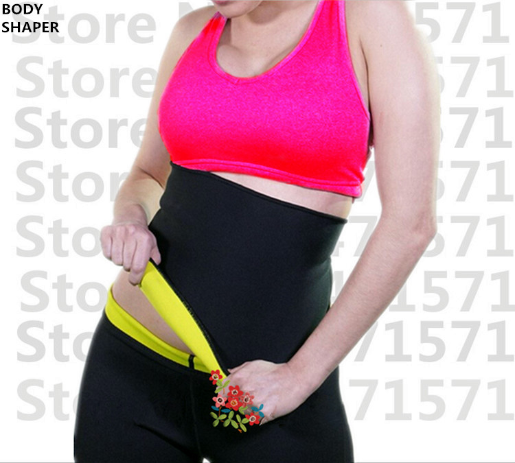 Hot Shapers super stretch neoprene shaper sauna slimming abdomen belly belt Fit Sweat Shaper Body magic