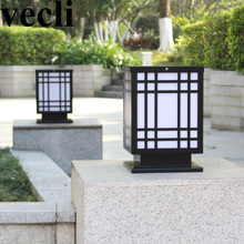 Waterproof outdoor lamp post lights IP55 iron creative pillar balcony residential villa focos led exterior