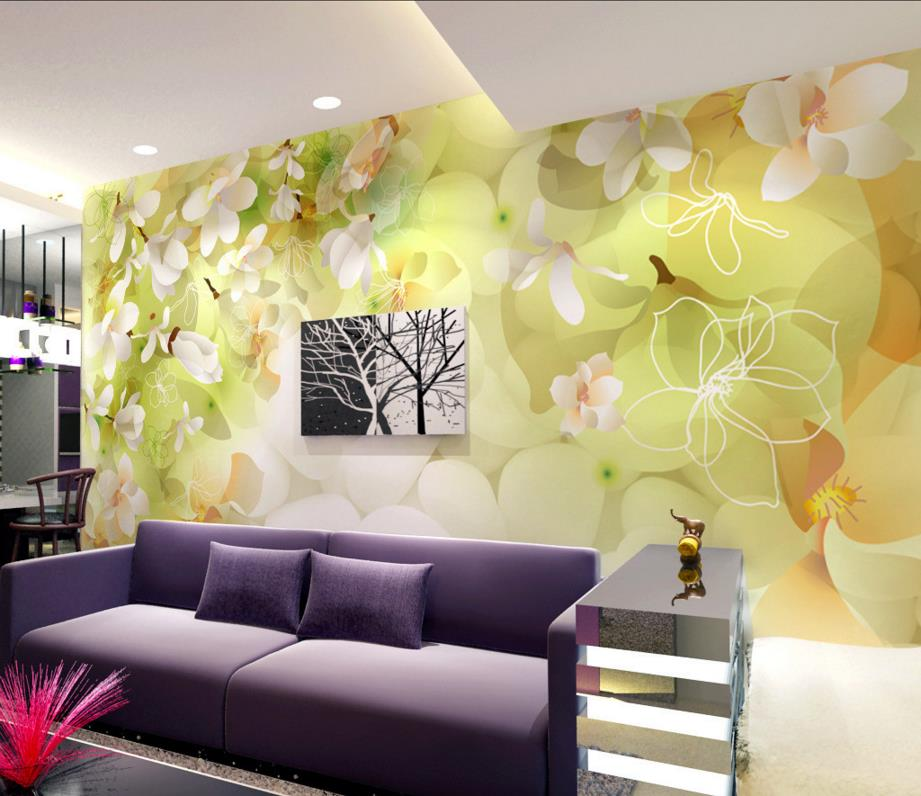 3D green falling cherry wallpaper beautiful 3d wallpaper for living room  non woven wallpaper roll-in Wallpapers from Home Improvement on  Aliexpress.com ...