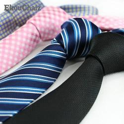Индивидуальные 8 см мужские шелковые галстуки формальные Полосатый горошек клетка, Жаккард свадебные галстуки Новая мода Классический кор...