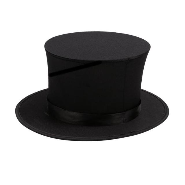 1pc Magician Hat Props Stage Close Up Magic Trick Professional Illusion  Spring Kids Toy Novelty Gags 41e08c69e2d9
