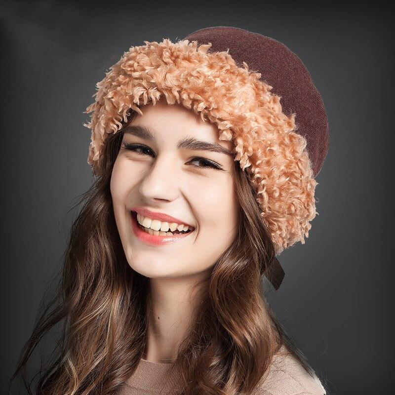 Sheep Velvet With Belts Lady Fashion Warm Cap Pot Cute Hats