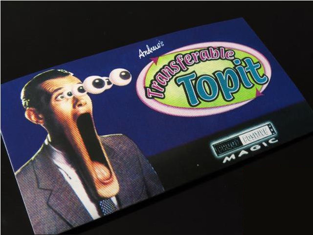 Free shipping! Andrew's Transferable Topit (Gimmicks) - magic tricks,close-up,street,stage,illusions,party trick,mentalism