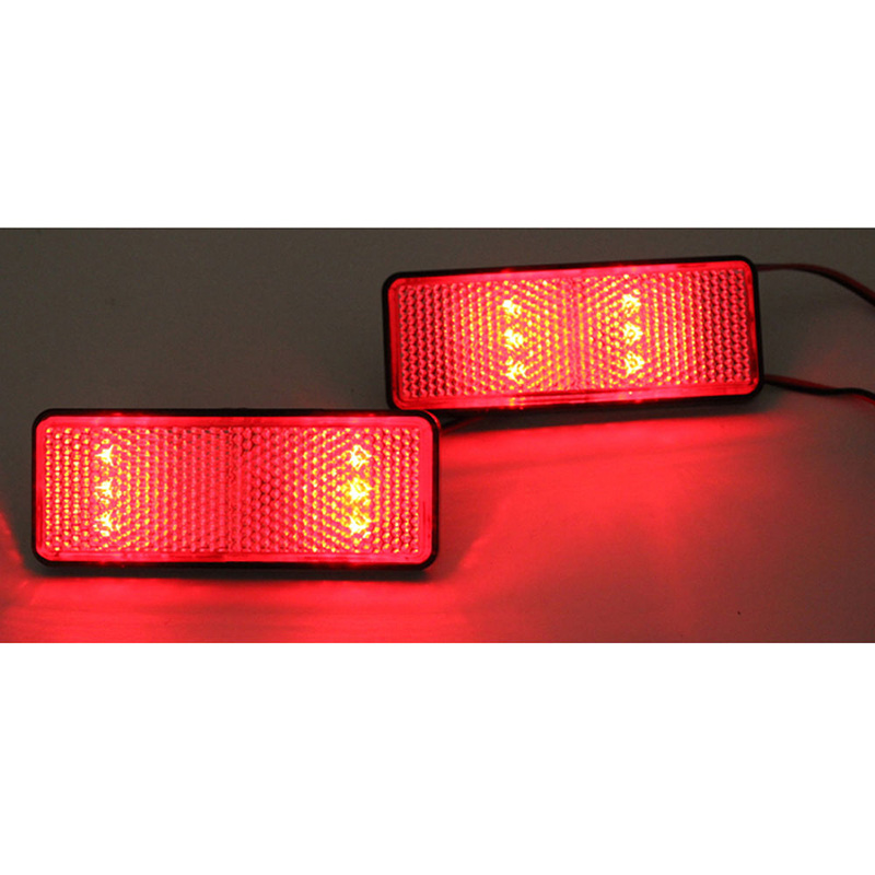 For Honda 1PC ABS Motorcycle Red Rear Tail Brake Stop Marker Light LED Reflector Auto Truck Trailer Off-road Lamp Mayitr
