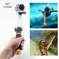 Underwater Transparent Telescopic Selfie Stick Monopod Tripod Remoter Holder For GoPro Session Go Pro 5 4