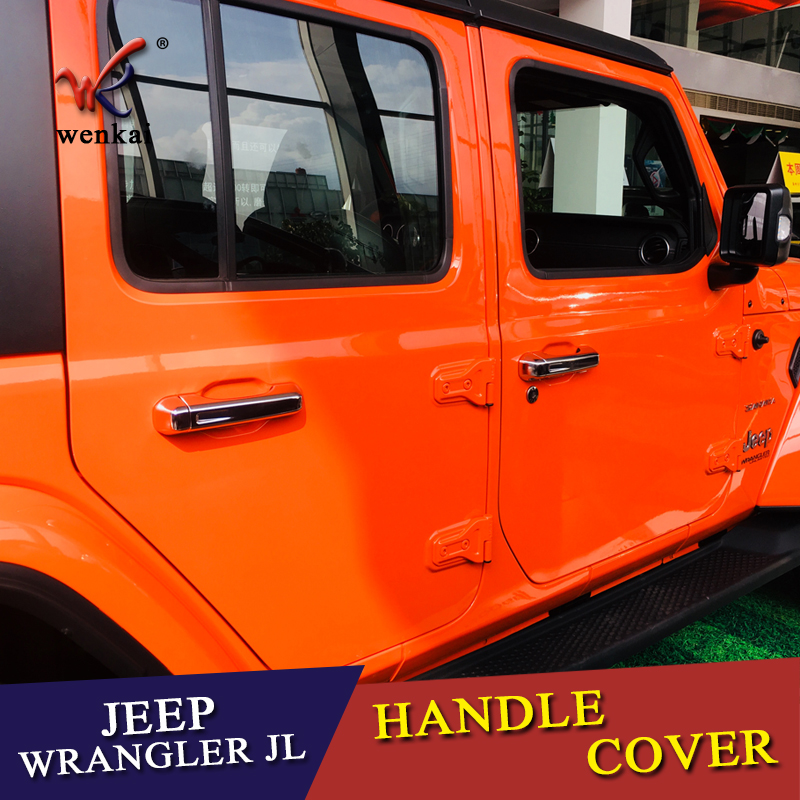 for jeep wrangler jl 2018 2019 abs chrome door handle catch coverfor jeep wrangler jl 2018 2019 abs chrome door handle catch cover trim cap auto accessories 10pcs in chromium styling from automobiles \u0026 motorcycles on