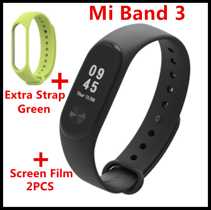 цена на (In Stock Fast Ship) Original Xiaomi Mi Band 3 Smart Band Mi band 3 Smart Bracelet Watch OLED Display Mi band 2 Upgrade Version