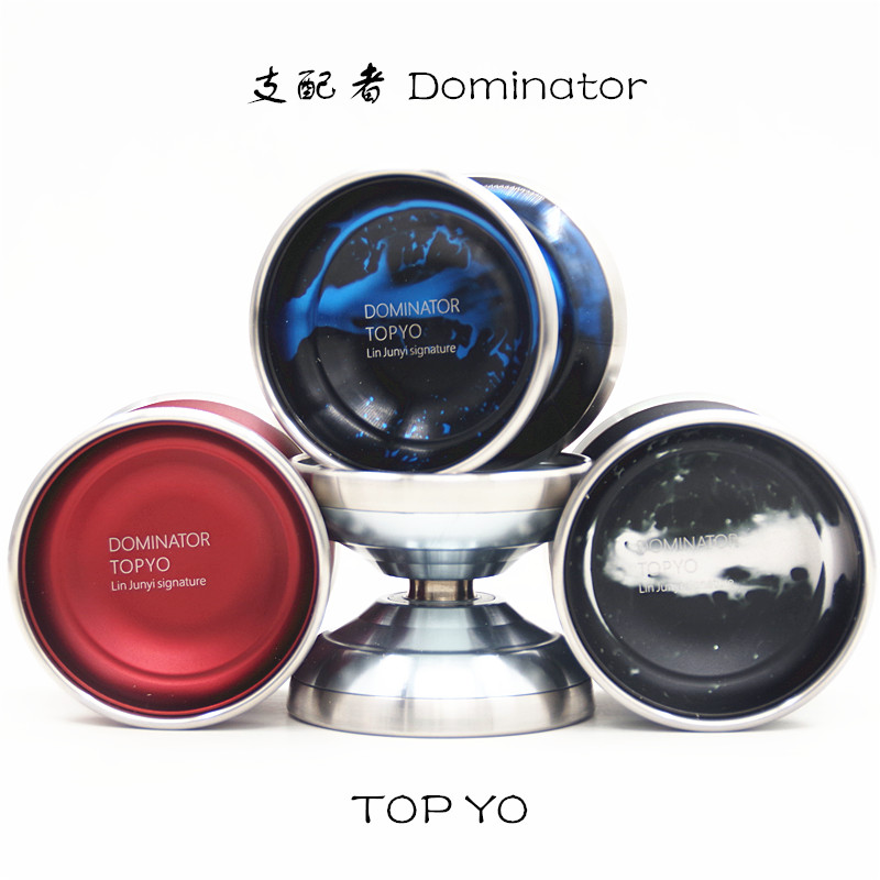 New arrive TOPYO Dominator YOYO Lin Junyi Signature yoyo Stainless steel ring professional competition metal yo yo