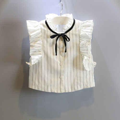 Комплект из 2 предметов платье для девочек в полоску для маленьких девочек топы без рукавов + одноцветная юбка комплект одежды