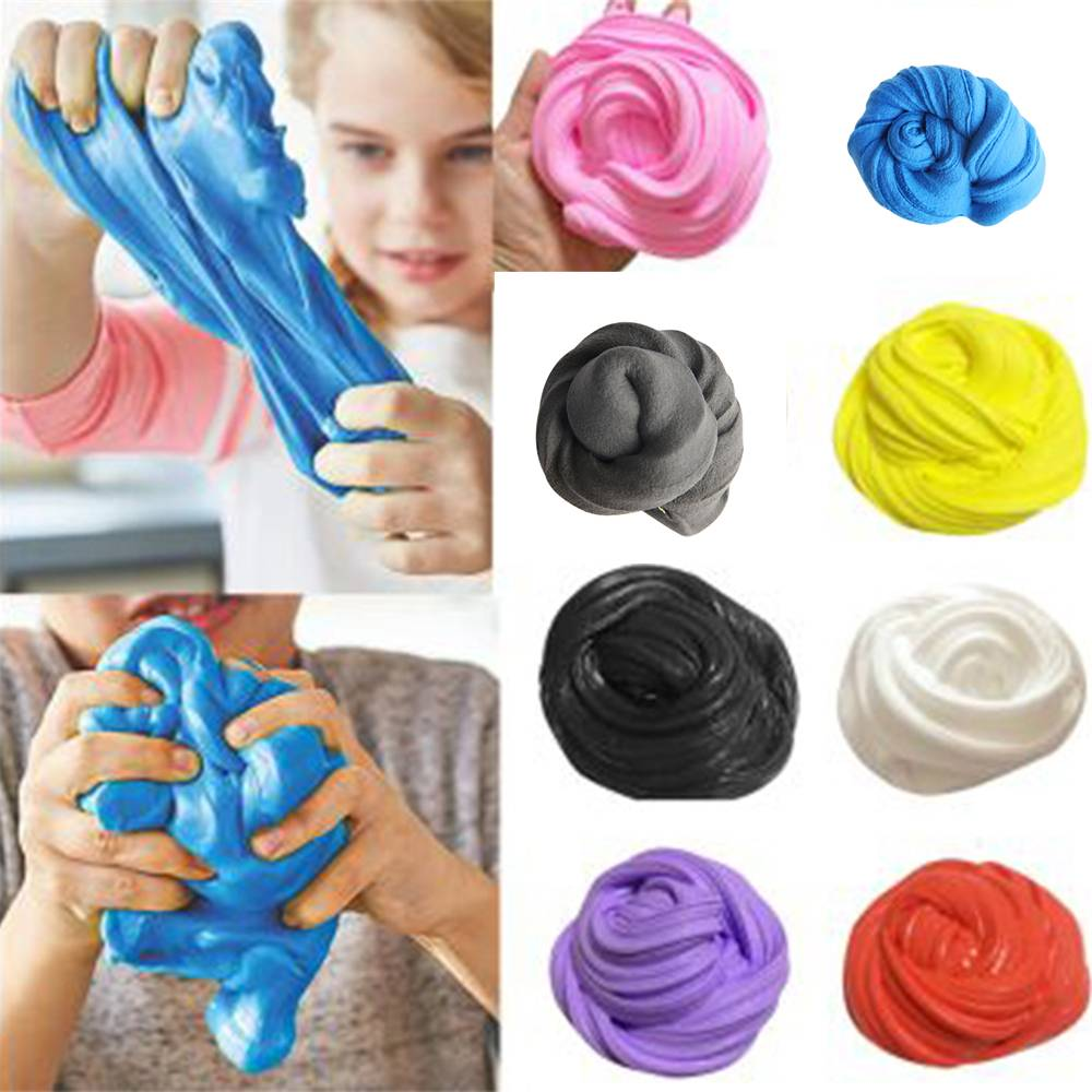 U-miss 5 PCS Toys Modeling Clay Polymer Fluffy Slime Fimo Plasticine No Borax Fun Entertainment Antistress Stress Relief Toys