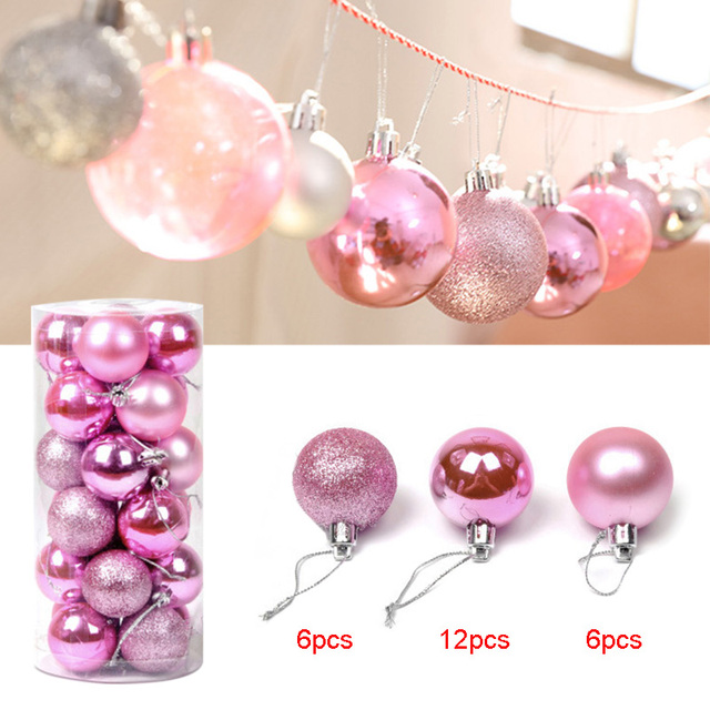 24 pcs christmas ball ornaments shatterproof christmas decorations tree balls for party decoration tb sale - Christmas Balls Ornaments