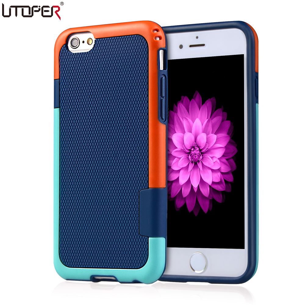 Coque For Apple iphone 6s Case 6 7 Plus 5 5s SE Shockproof ARMOR TPU Case For Apple iphone 7 Case Plastic Silicon Phone Cover