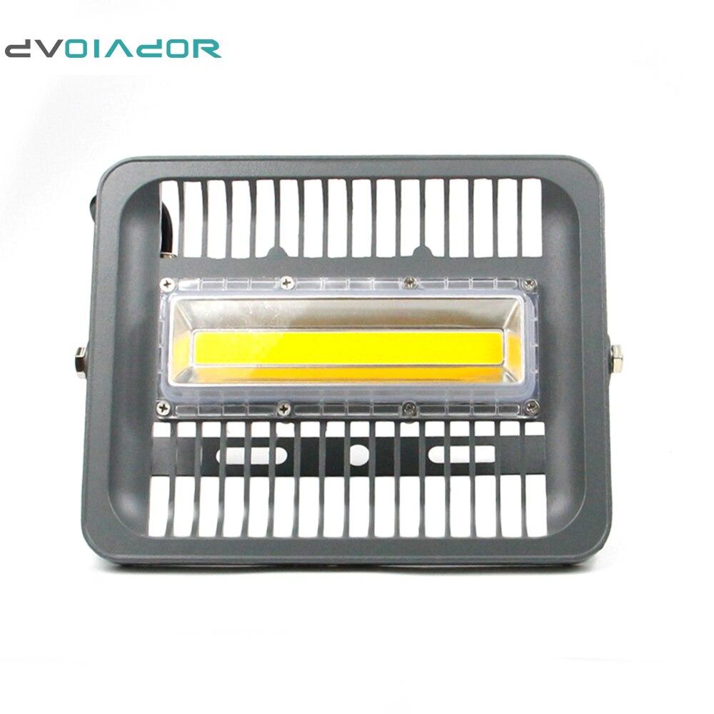 DVOLADOR LED Floodlight 50W Floodlight IP66 Waterproofing AC 220V LED Reflector LED Outdoor Wall Lamp Garden Projector