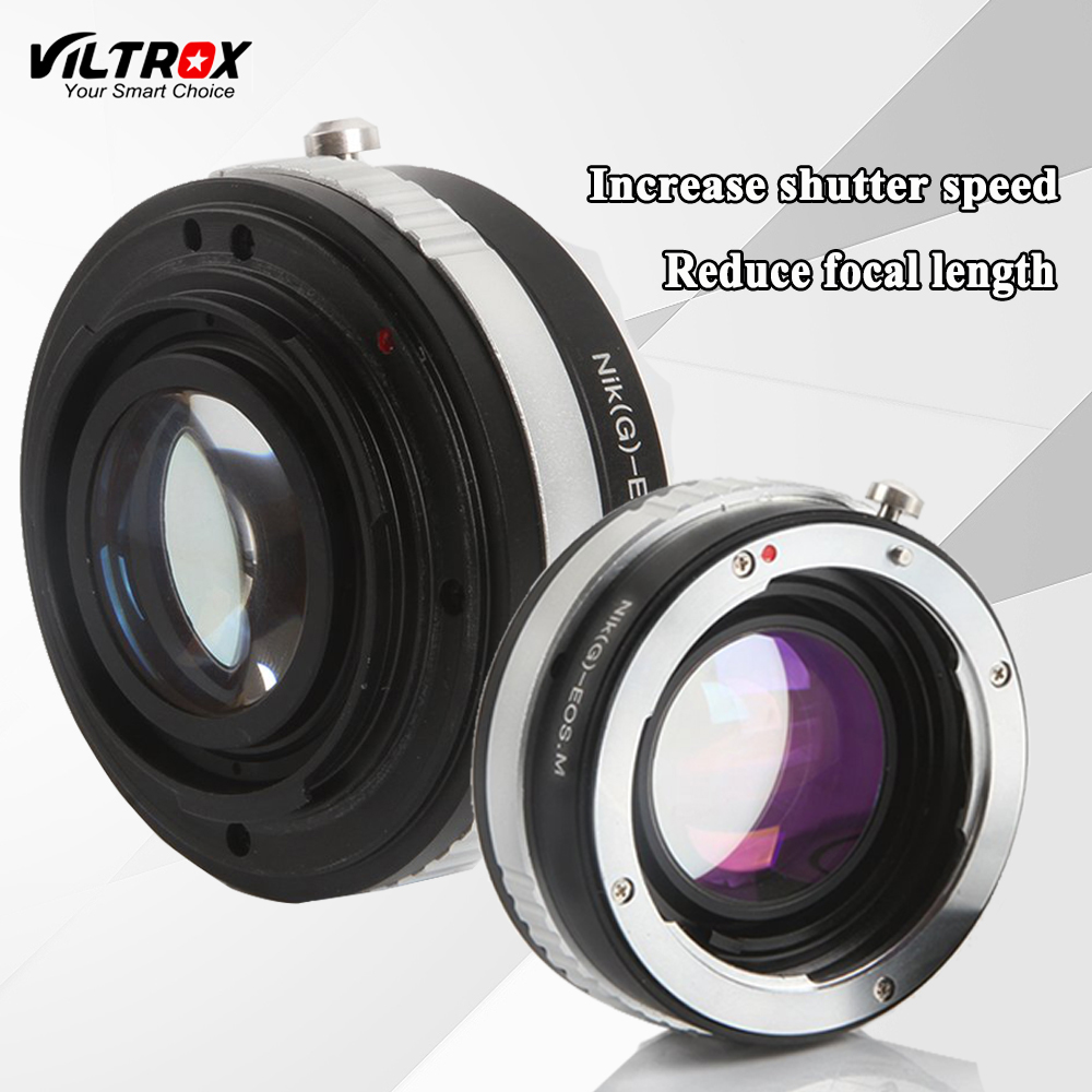 Viltrox Reducer Speed Booster Lens Adapter Tube Ring For Nikon AI AIS F G Lens to Canon EF M EOS M M1 M2 M3 M5 Camera