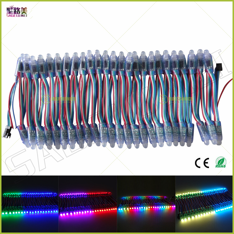 (50 Teile/los) Dc5v 1903/ws2811/p9813/lpd6803/ws2801ic Wahlweise Led String Led Pixel Modul 12mm Rgb Digital Volle Farbe Wasserdicht