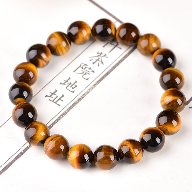 Minimalist 4mm 6mm 8mm 10mm Tiger eyes Beads Bracelet Men Charm Natural Stone Braslet For Man Handmade Casual Jewelry Pulseras 2