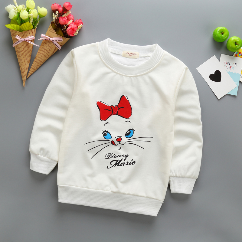 New Baby Girl T-shirt Spring Autumn Kids sweatshirt Toddler Cartoon minnie long sleeve T-shirt Tops Character Baby Girl clothes new hot sale 2016 korean style boy autumn and spring baby boy short sleeve t shirt children fashion tees t shirt ages