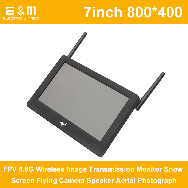 DVR 7 inch 800x480 FPV 5.8G Wireless Image Transmission Monitor Snow Screen Flying Camera Speaker Aerial PhotographDVR 7 inch 800x480 FPV 5.8G Wireless Image Transmission Monitor Snow Screen Flying Camera Speaker Aerial Photograph