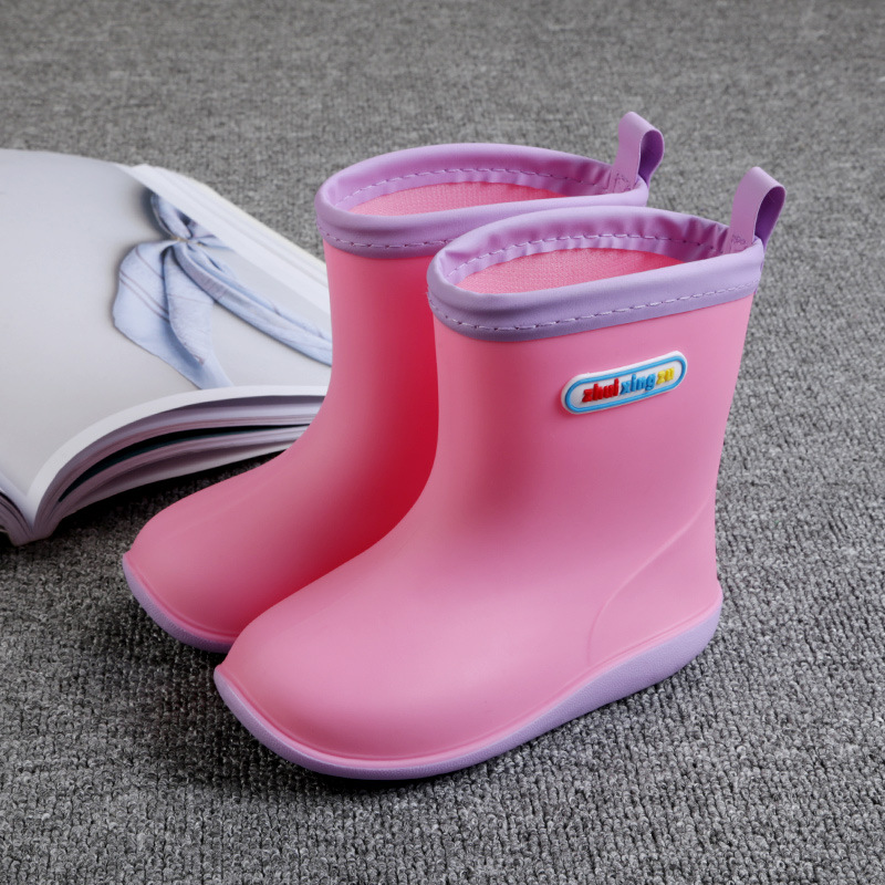 Rain Boots Kids for Waterproof Boys Rubber Boots Baby Girls Non-slip Cotton Warm Water Shoes Winter Children Rainboots Removable стоимость
