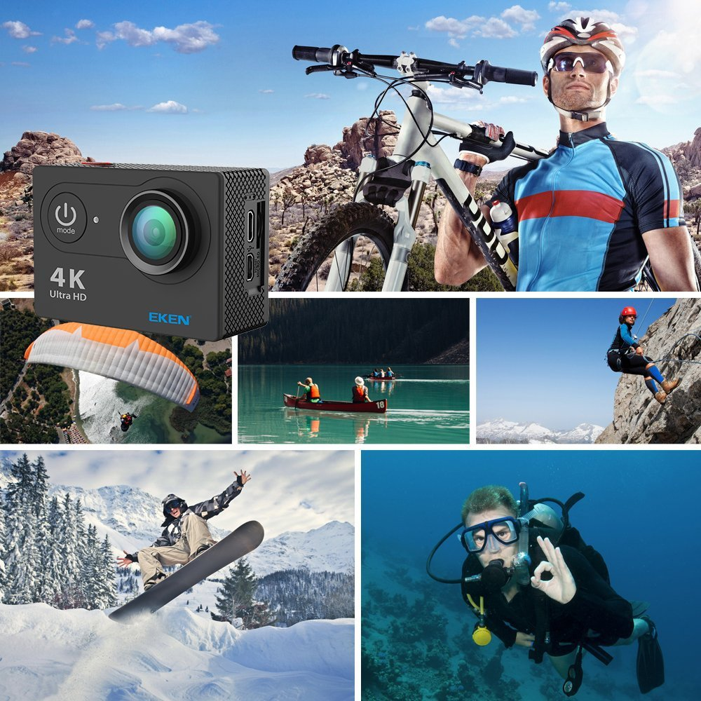 New  Original  EKEN H9 / H9R Action Camera Ultra HD 4K WiFi 1080P/60fps 2.0 LCD 170D Lens Helmet Cam Waterproof pro Sports Camer Pakistan