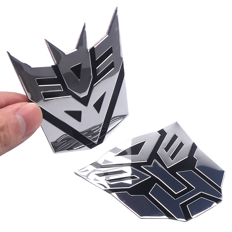 Image 3 - 3D Car Stickers Cool Autobots Logo Car Styling Metal Transformers Badge Emblem Tail Decal Motorcycle Car Accessories Automobile-in Car Stickers from Automobiles & Motorcycles